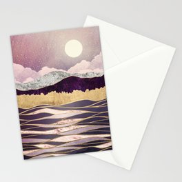 Lunar Waves Stationery Cards