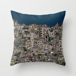 London Favela Throw Pillow