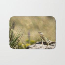 Lizard At Attention Bath Mat