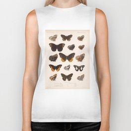 Vintage Scientific Insect Butterfly Moth Biological  Species Anatomy Illustration Biker Tank