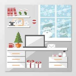 Christmastime office interior Canvas Print