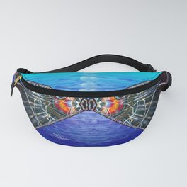 Fishies in Love, Kissing Fishes, Scanography Art Fanny Pack