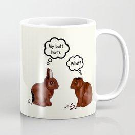 My Butt Hurts Bunnies Coffee Mug