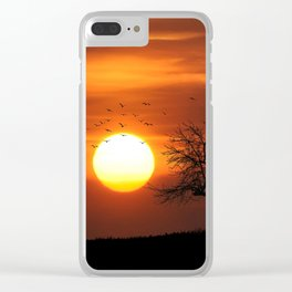 AFRICAN SUNSET Clear iPhone Case