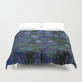 Blue Water Lilies Monet 1916- 1919 Duvet Cover