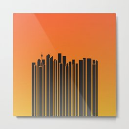 Sydney City Barcode Metal Print
