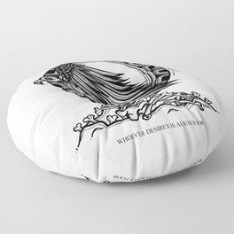 Vulture- Latin Sayings (Dead Language) Floor Pillow