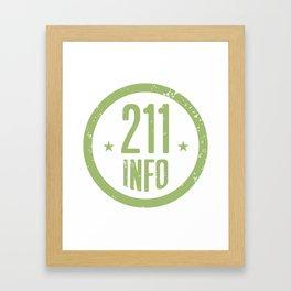 211info logo Framed Art Print