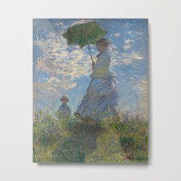 Claude Monet - Woman With A Parasol Metal Print