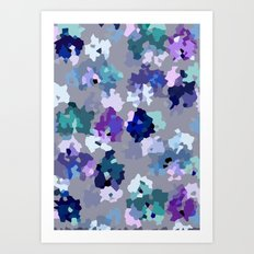 Crystallized Orchid Art Print