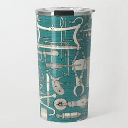 fiendish incisions blue Travel Mug