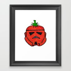 Strawberry Stormptrooper Framed Art Print