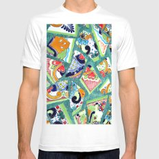 All the Colours of the Rainbow Mens Fitted Tee White MEDIUM