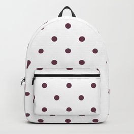 Polka Dots Pattern: Burgundy Backpack