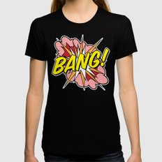 Bang! Black Womens Fitted Tee SMALL
