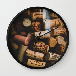 A collection of Wine Corks Photo Wall Clock