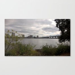 Nature & Culture Clash Canvas Print