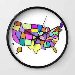 American States Clipart Drawing Wall Clock