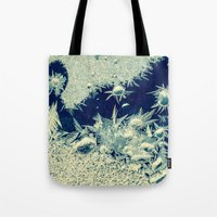 jack frost Tote Bags featuring jack frost by Bonnie Jakobsen-Martin