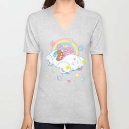 vintage Care Bears Cloud Car Unisex V-Neck