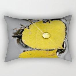 Aspen Leaves in Pond Rectangular Pillow