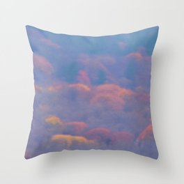 Flying in the Fog: Snow Geese Throw Pillow