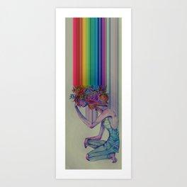 lost picking flowers Art Print