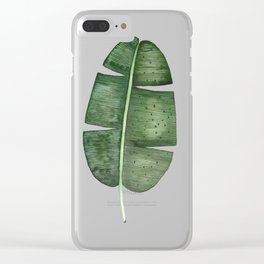 banana leaf Clear iPhone Case