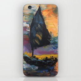 Yacht at Sunset iPhone Skin