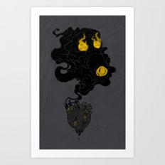 Polluted Planet Art Print