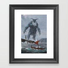 at the edge of the world Framed Art Print