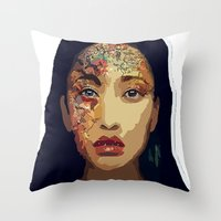 pocahontas Throw Pillows featuring Pocahontas by FannikaRial