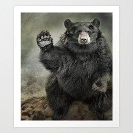 Black Bear Greeting Art Print