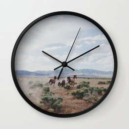 Running Horses Wall Clock
