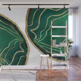 Emerald Agate Gold Glam #1 #gem #decor #art #society6 Wall Mural