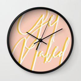 Get Naked Color Wall Clock