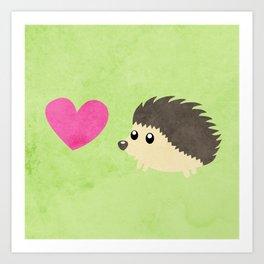 Hedgehog Love Art Print