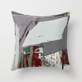 The grey barrier Throw Pillow