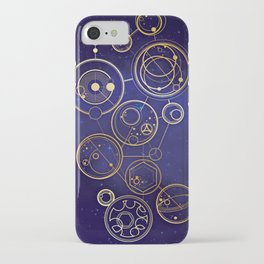Gallifrey Gold Space Geometry iPhone Case
