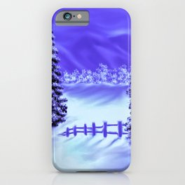 Moon Over The Mountain iPhone Case