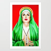 religious Art Prints featuring Religious by Paintings by Callie Prado