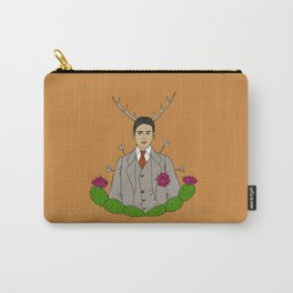 Frida Khalo Antlers and Arrows Carry-All Pouch