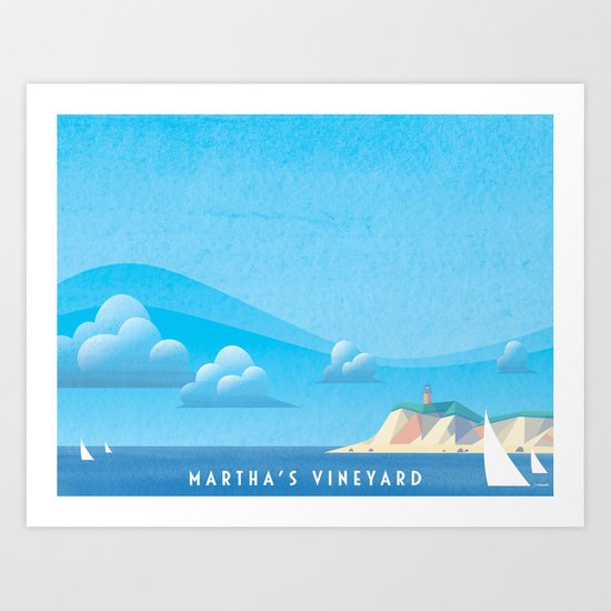 Marthas Vineyard Art Print
