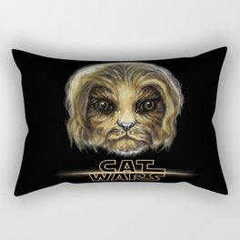 Cat Wars Chewbecca Rectangular Pillow
