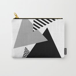 Geometric - Triangles, Black & White Carry-All Pouch