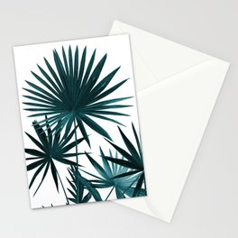 Fan Palm Leaves Jungle #1 #tropical #decor #art #society6 Stationery Cards