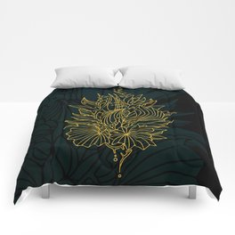 Nested in Gold Comforters