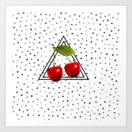 Cherries and Pyramid Art Print