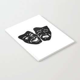 Theater Masks of Comedy and Tragedy Notebook
