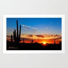 Evening Desert Sparkle Art Print
